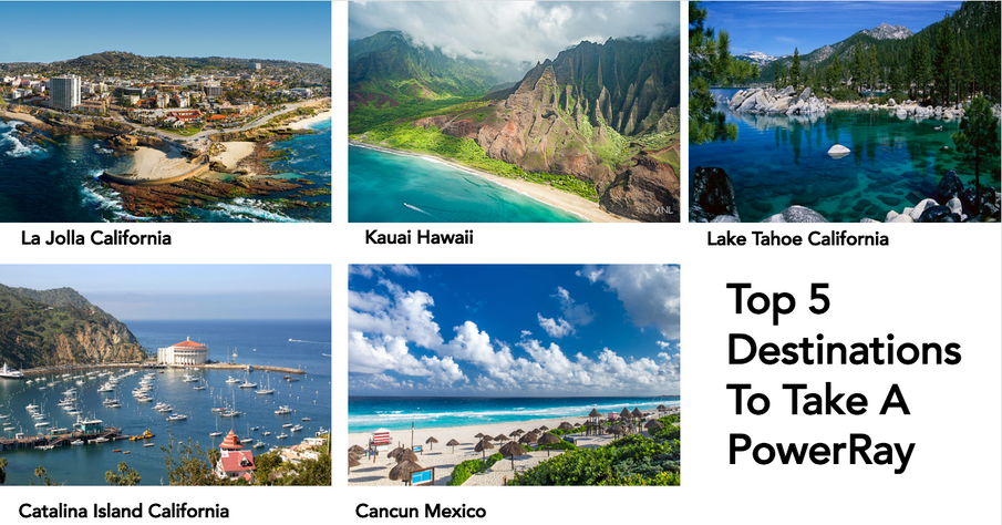 Top 5 Destinations To Take A PowerRay