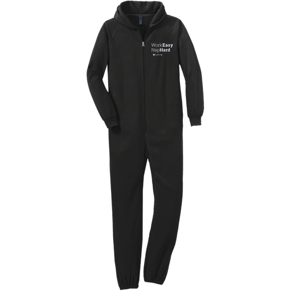 Work Easy, Nap Hard Adult Fleece Onesie