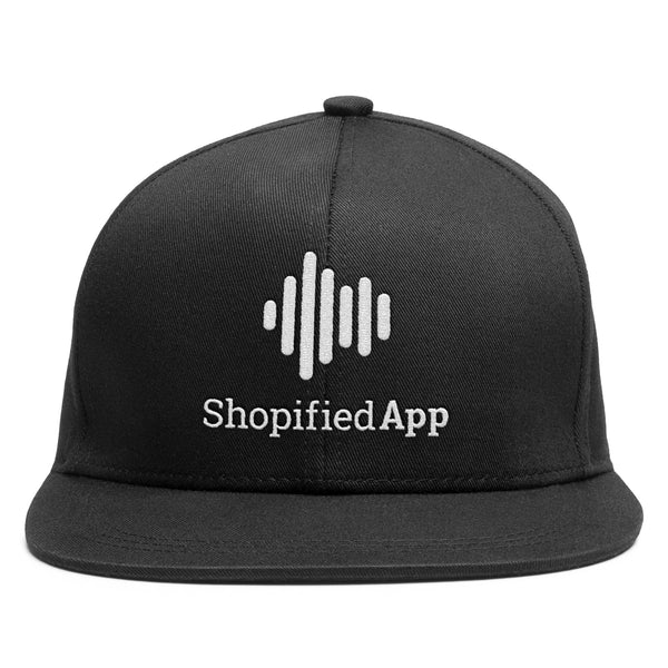 Shopified App Flat Bill Snapback Hat