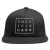 Shopified App Flat Bill High-Profile Snapback Hat