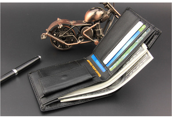 "Mens Black ""Simple Times"" Leather wallet"