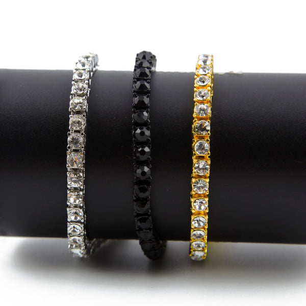 Iced out Single Row Gold Jeweled Bracelet - COST PRICE REDUCTION