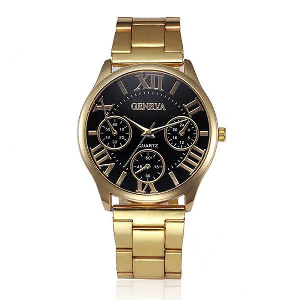 "Mens ""Golden Gate"" Steel Metal strap watch"