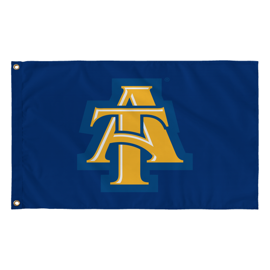 Aggie Blue Interlock Flag