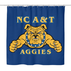 Aggie Blue Shower Curtain