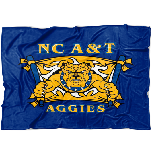Aggie Dog Blanket-Blue