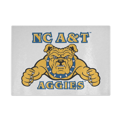 NC A&T Glass Cutting Board