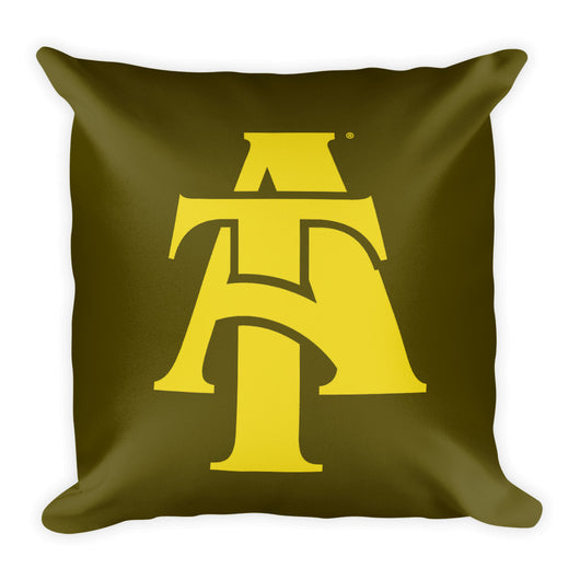 Aggie Logo Pillow-Brown & Gold