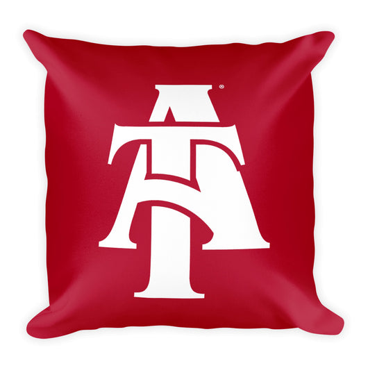 Aggie Logo Pillow-Red & White