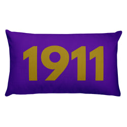 1911 Purple Pillow
