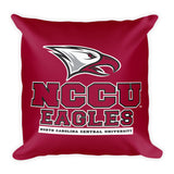 NCCU Maroon Square Pillow
