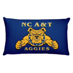Aggie Logo Pillow-Blue