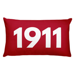 1911 Red Pillow