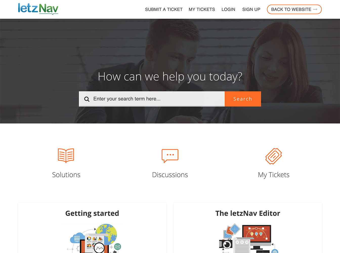 letzNav Freshdesk Customized Theme