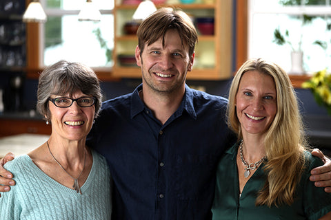 Founder Marian with son Greg and daughter Cara
