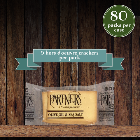 Snack Packs : Hors d'Oeuvre Crackers : Olive Oil & Sea Salt - 80 Packs Per Case
