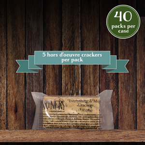 Snack Packs : Hors d'Oeuvre Crackers : Everything & More - 40 Packs Per Case