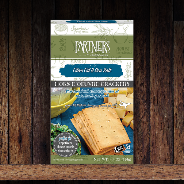 Hors d'Oeuvre Crackers : Olive Oil & Sea Salt