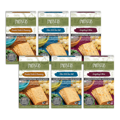 Hors d'Oeuvre Crackers : 3-Flavor Variety 6-Pack