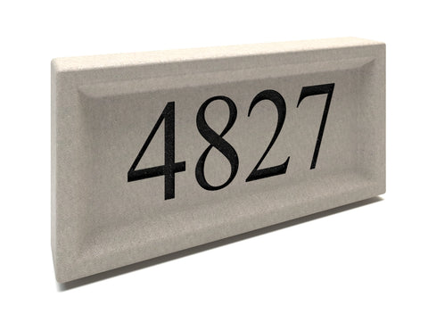Recessed Address Stones