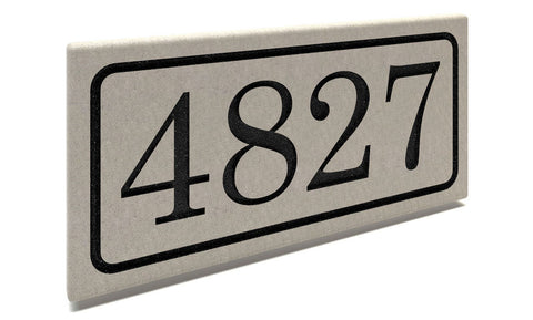 Custom Limestone Address Stones