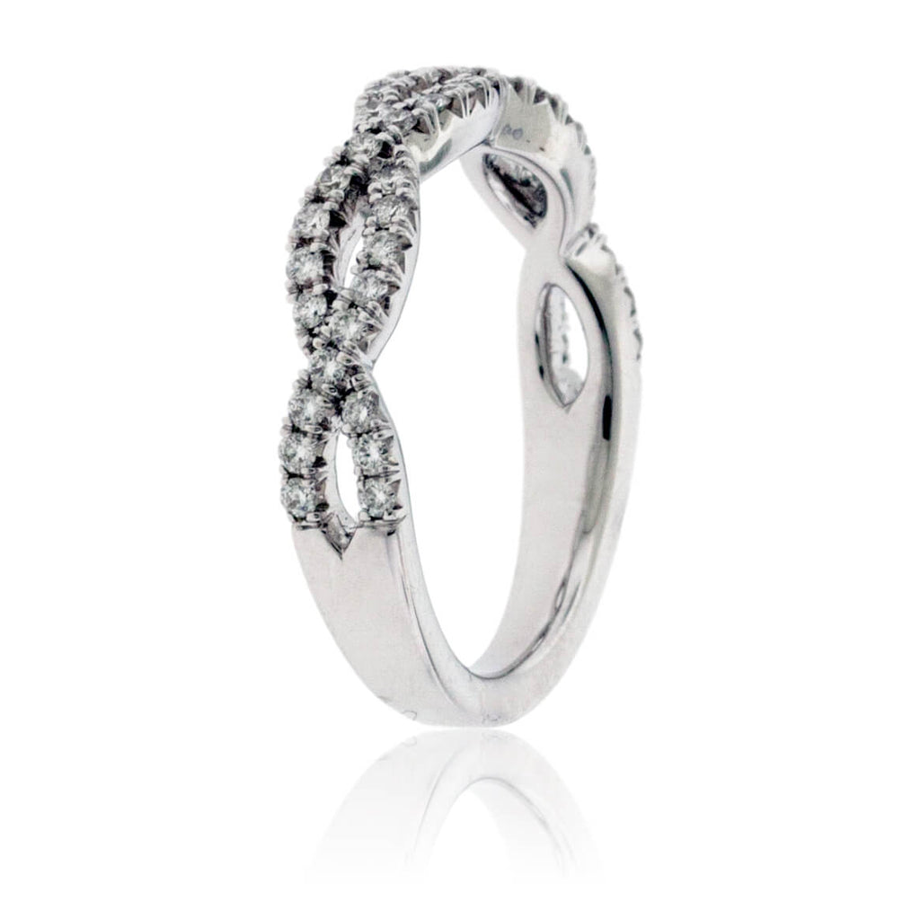 Bypassing .37 Carat Diamond Infinity Ring