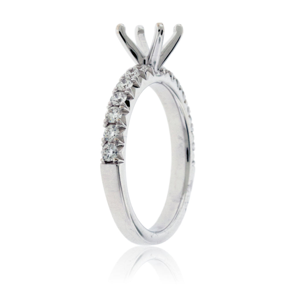 Simple .50ctw Semi Mount Diamond Ring