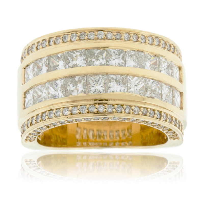 Yellow Gold Wide Diamond Band
