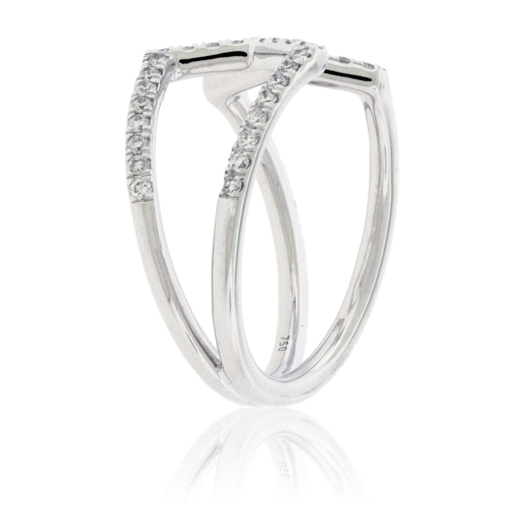 Open Center Diamond Fashion Ring