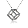 Diamond 3D Style Box Cube Pendant