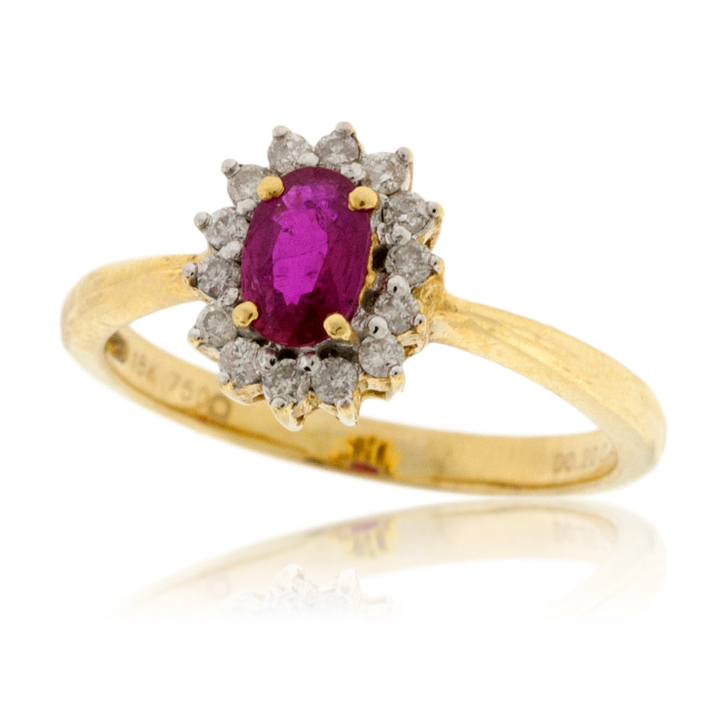 Oval Estate Style Ruby Ring