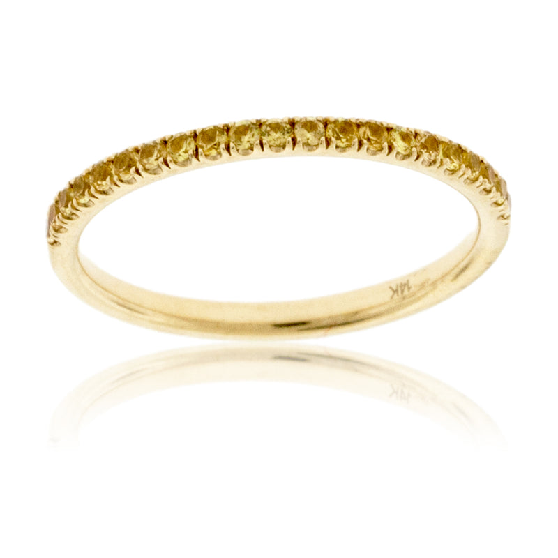 Stackable Yellow Sapphire Style Band