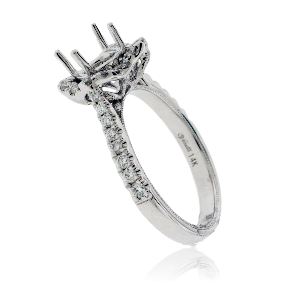 On Point Diamond Engagement Semi-Mount Ring