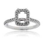 Diamond Engagement Semi-Mount Ring