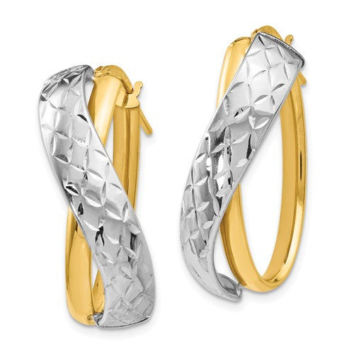 Polished Twisted Hoop Earrings