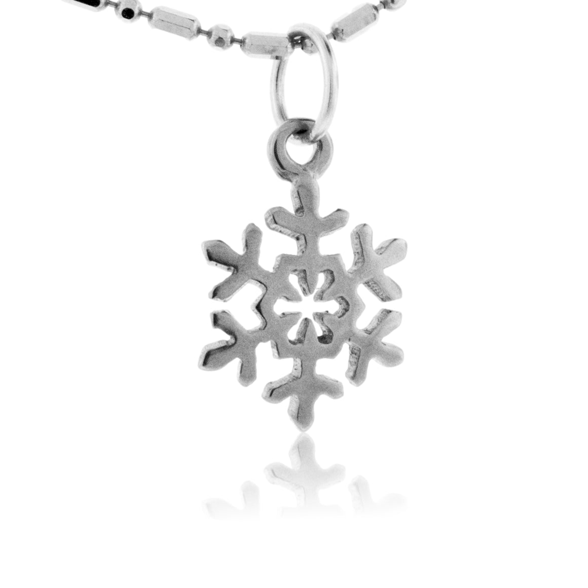 Small Dome Snowflake Charm or Necklace