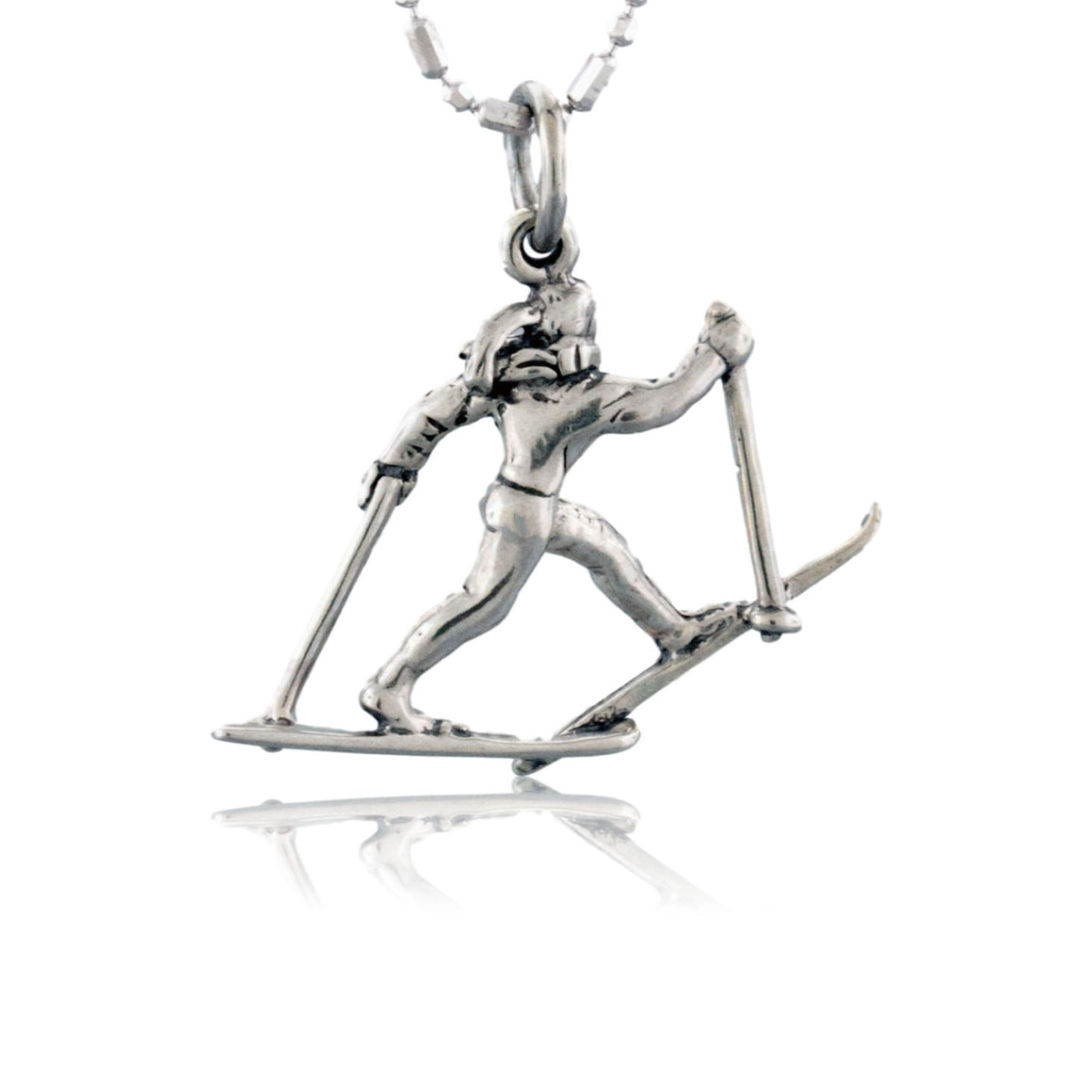 Cross Country Skier Charm