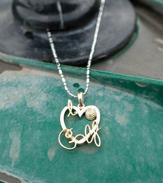 I love golf pendant park city jewelers i love golf pendant aloadofball Image collections