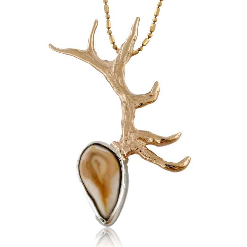 Elk Ivory Single Antler Pendant