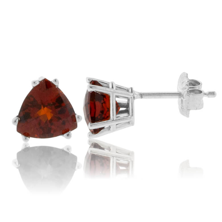 Trillian-Cut Citrine Stud Post Earrings