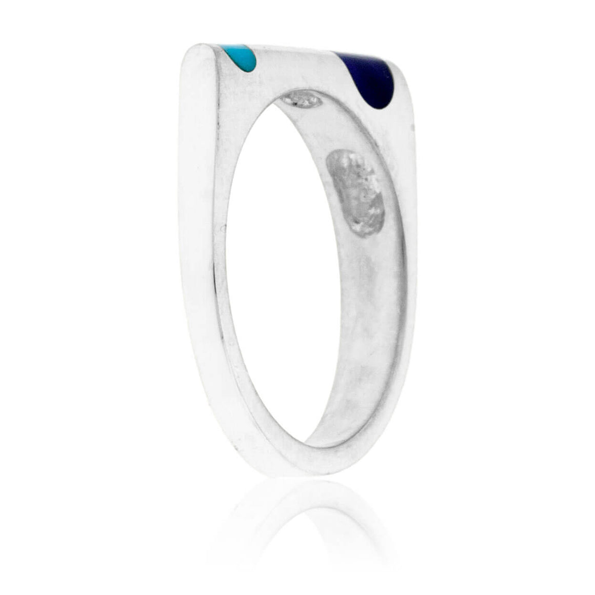 Sterling Silver Double Inlay Turquoise & Sugilite Ring
