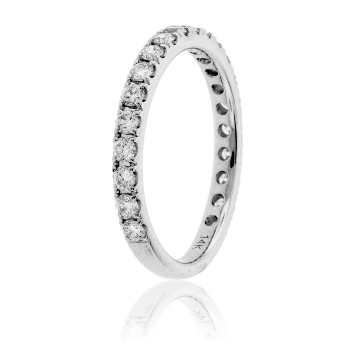 14K White Gold Diamond Accent Band (.60ctw)