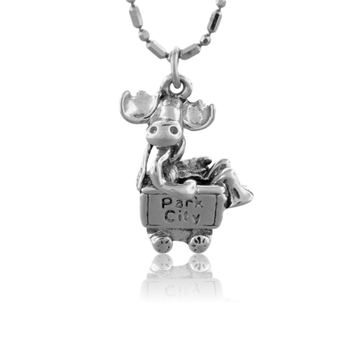 Moose Mine Cart Charm