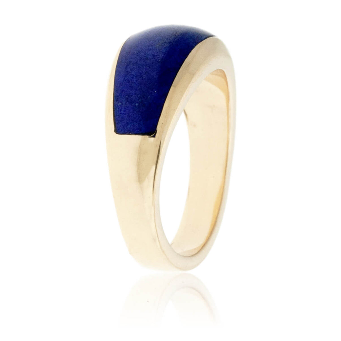 Domed Lapis Inlay Band