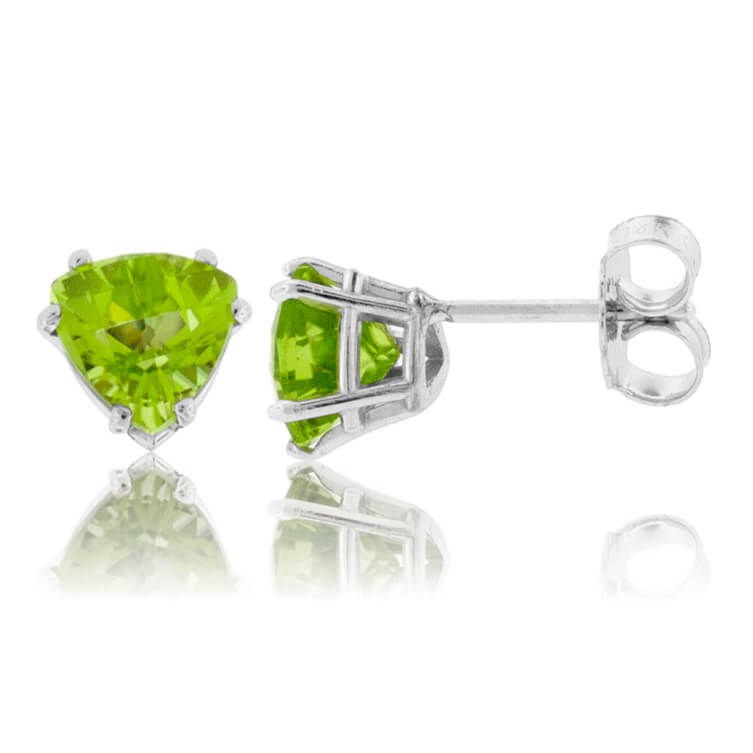 Trillian - Cut Peridot Stud Earrings