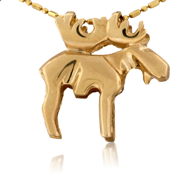 Medium Two Toned Moose Pendant
