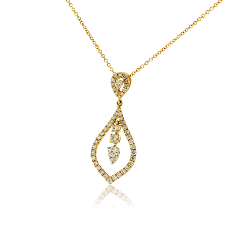 Diamond Drop Layer Pendant