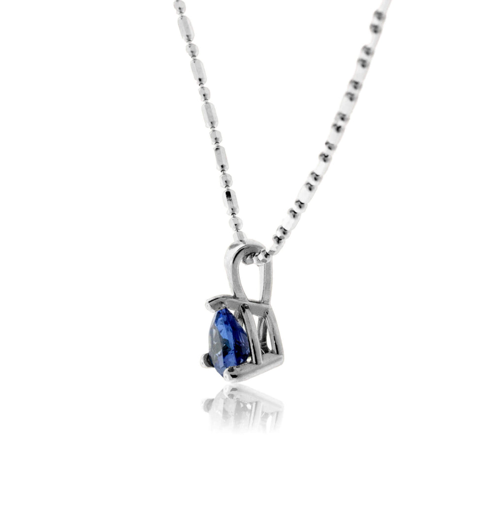 Trillion Solitaire Tanzanite Pendant