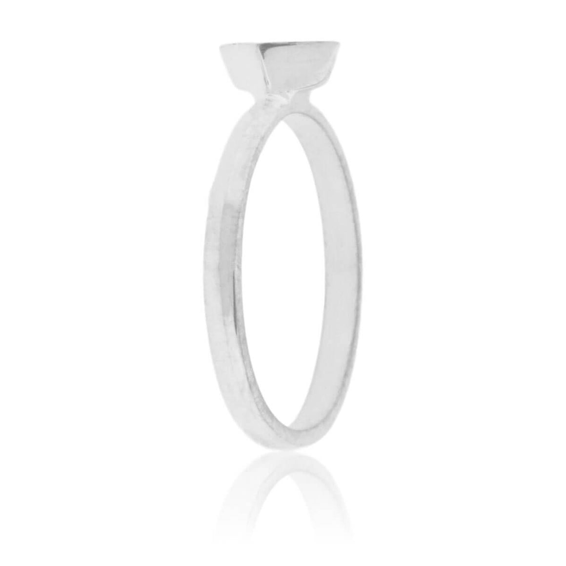 Square On Point Coral Inlay Ring