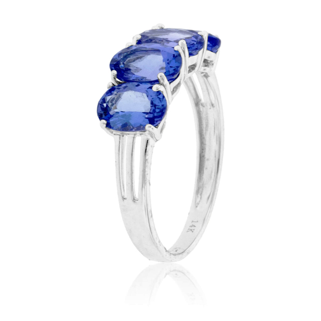 Four Oval Cut Tanzanite Ring
